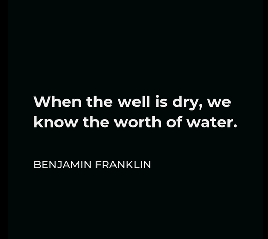 Well is Dry Quote